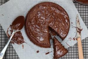 Gâteau chocolat sans beurre et sans sucre