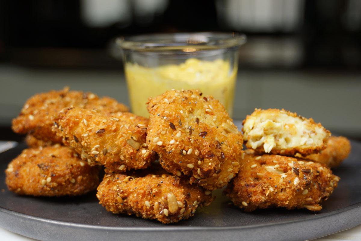 recette nuggets de poulet faciles l 39 indienne et mayonnaise. Black Bedroom Furniture Sets. Home Design Ideas