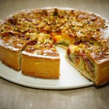 tarte peche amandes pistaches herve cuisine
