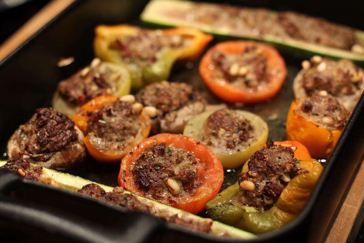 Recette diététique : légumes farcis moelleux au boeuf