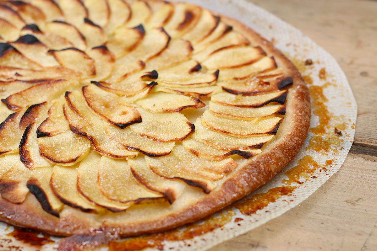Recette de la tarte fine aux pommes facile - Dessin tarte aux pommes ...