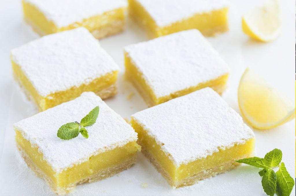 recette des carr s sabl s au citron ou lemon squares. Black Bedroom Furniture Sets. Home Design Ideas